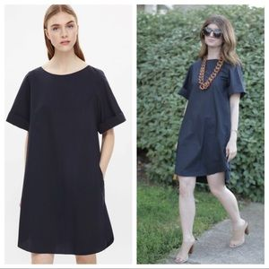 COS Navy RelaxedTunic Style  Dress with Pockets